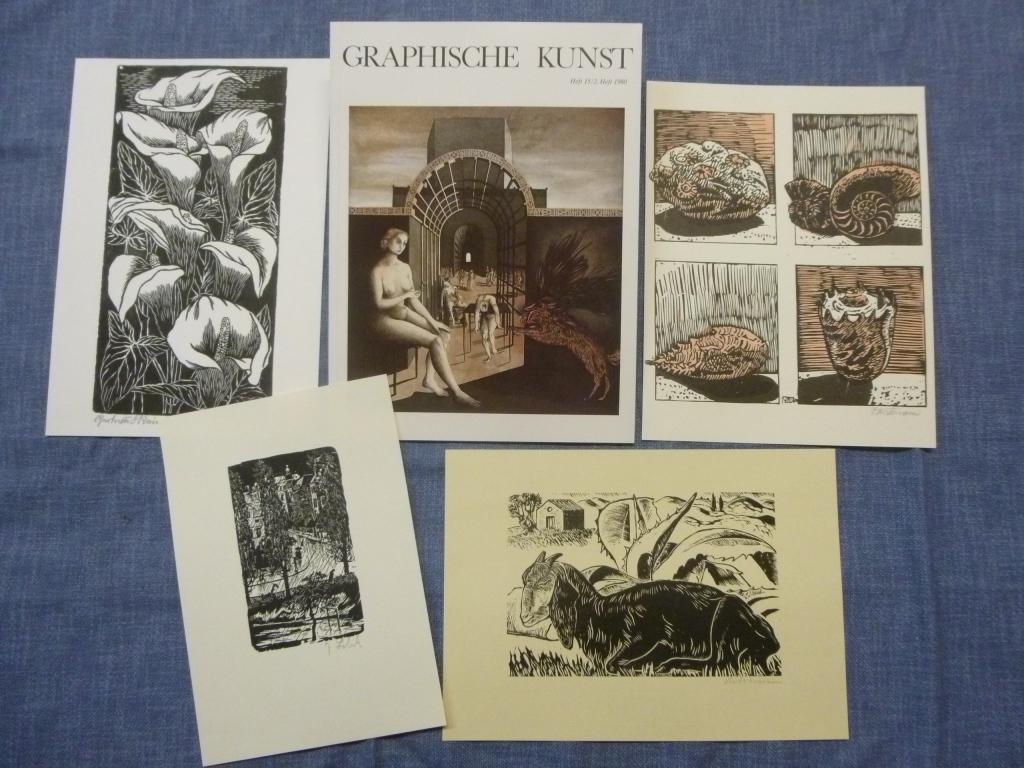 Graphische Kunst Heft 15 / 2. Heft 1980 Ausgabe C mit Originalgraphik-Beilagen