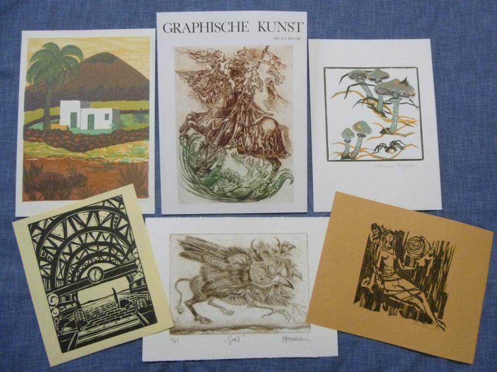Graphische Kunst Heft 16 / 1. Heft 1981 Ausgabe B mit Originalgraphik-Beilagen