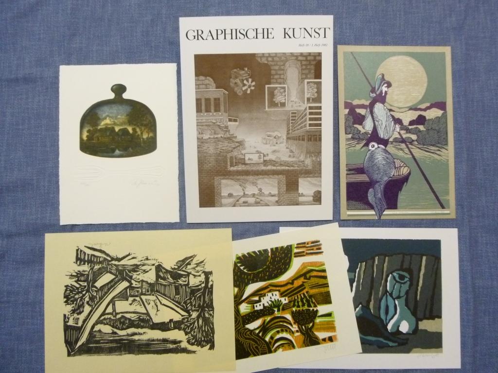 Graphische Kunst Heft 18 / 1. Heft 1982 Ausgabe B mit Originalgraphik-Beilagen
