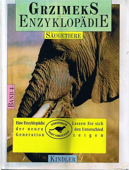 Grzymeks Enzyklopädie. Band 4. Säugetiere