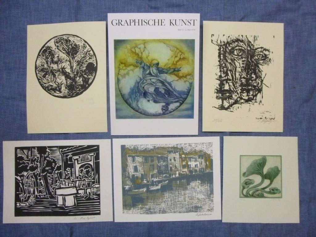 Graphische Kunst Heft 11 / 2. Heft 1978 Ausgabe B mit Originalgraphik-Beilagen