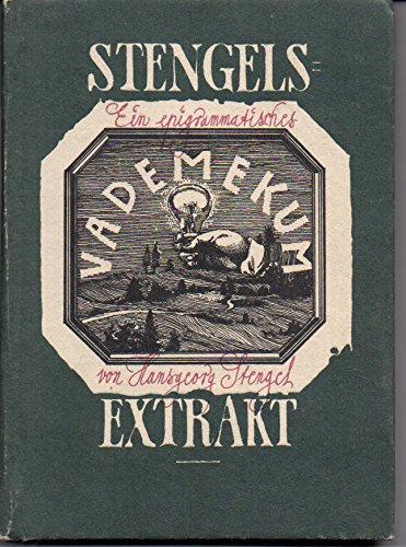 Stengels Extrakt 1. Aufl.