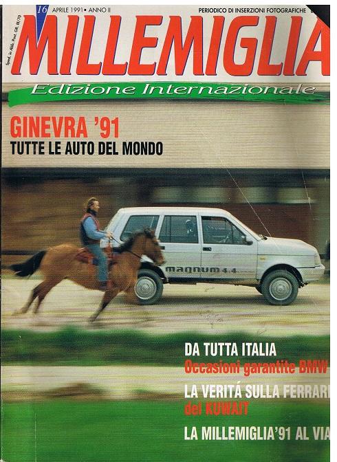 Millemiglia. Editione Internationale. Aprile 1991. Heft 16
