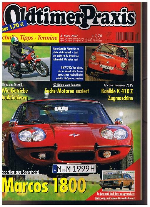 Oldtimer Praxis. Heft 3 März 2002