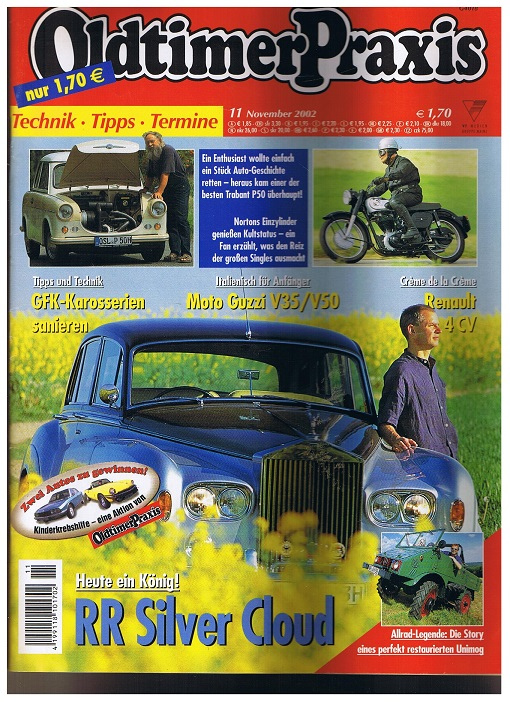 Oldtimer Praxis. Heft 11 November 2002