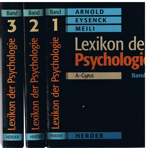 Lexikon der Psychologie - Band 1-3 12. Aufl.