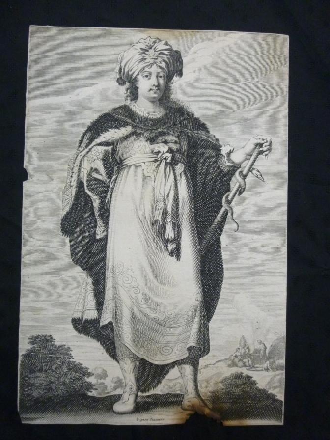 Rousselet, Gilles und Claude Vignon Sibille - orig. Kupferstich Sibylle Engraving