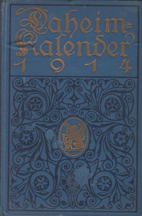 Daheim Kalender für das Deutsche Reich auf das Jahr 1914