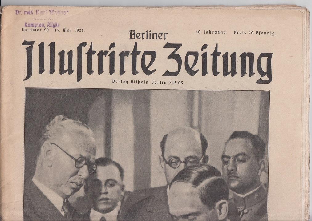 Berliner illustrierte Zeitung 40. Jhg., Nr. 20, 17. Mai 1931