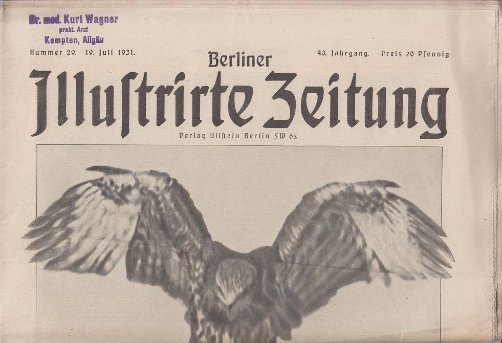 Berliner illustrierte Zeitung 40. Jahrgang, Nr. 29, 19. Juli 1931