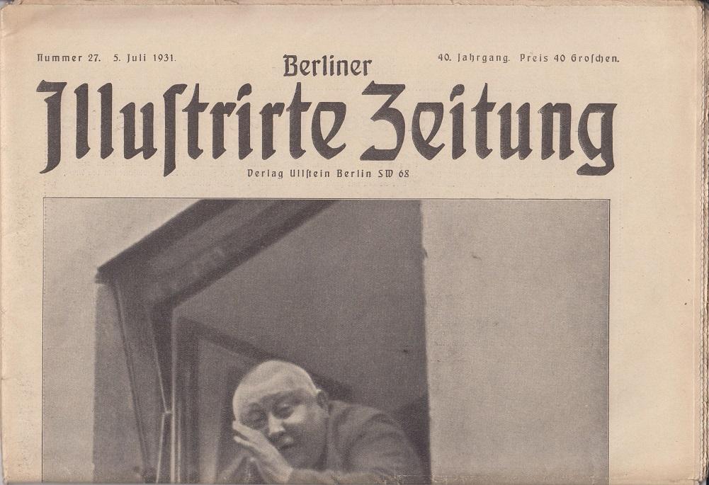 Berliner illustrierte Zeitung 40. Jahrgang, Nr. 27, 5. Juli 1931