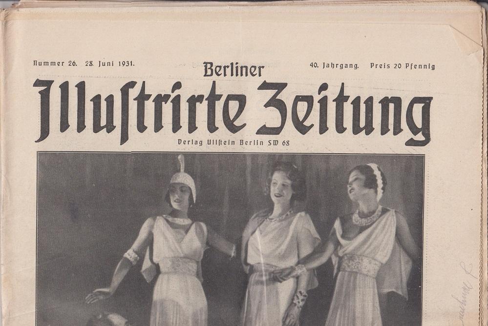 Berliner illustrierte Zeitung 40. Jahrgang, Nr. 26, 28. Juni 1931