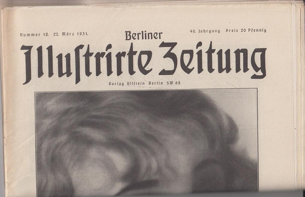 Berliner illustrierte Zeitung 40. Jahrgang, Nr. 12, 22. März 1931