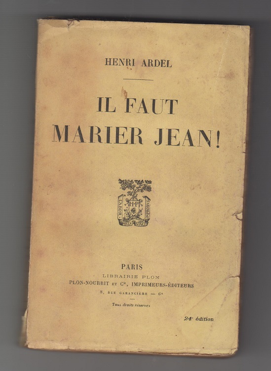 Il Faut Marier Jean!