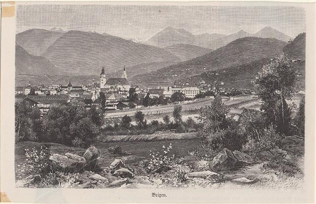 Orig. Holzstich - Brixen.