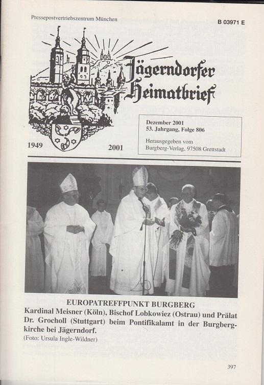 Jägerndorfer Heimatbrief. Dezember 2001 53. Jahrgang, Folge 806.