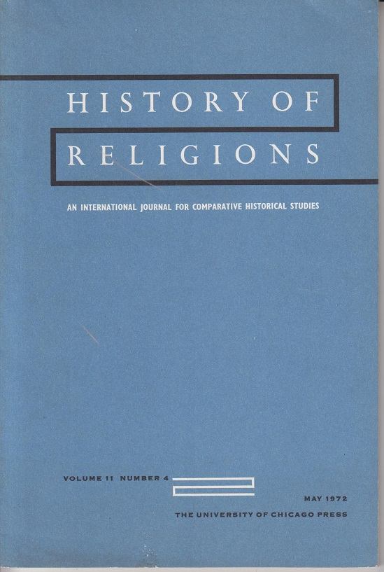 History of religions. Volume 11 Numer 4 An international journal for comparative historical studies. Volume 11 Numer 4