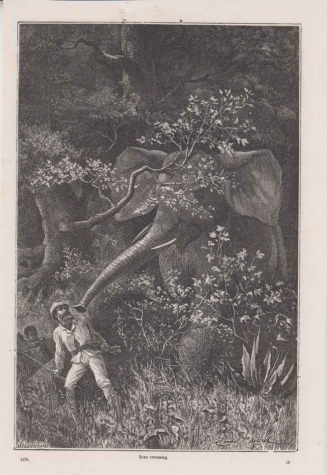 Orig. Holzstich: Eene verrassing. Originalzeichnung von Alb. Richter.