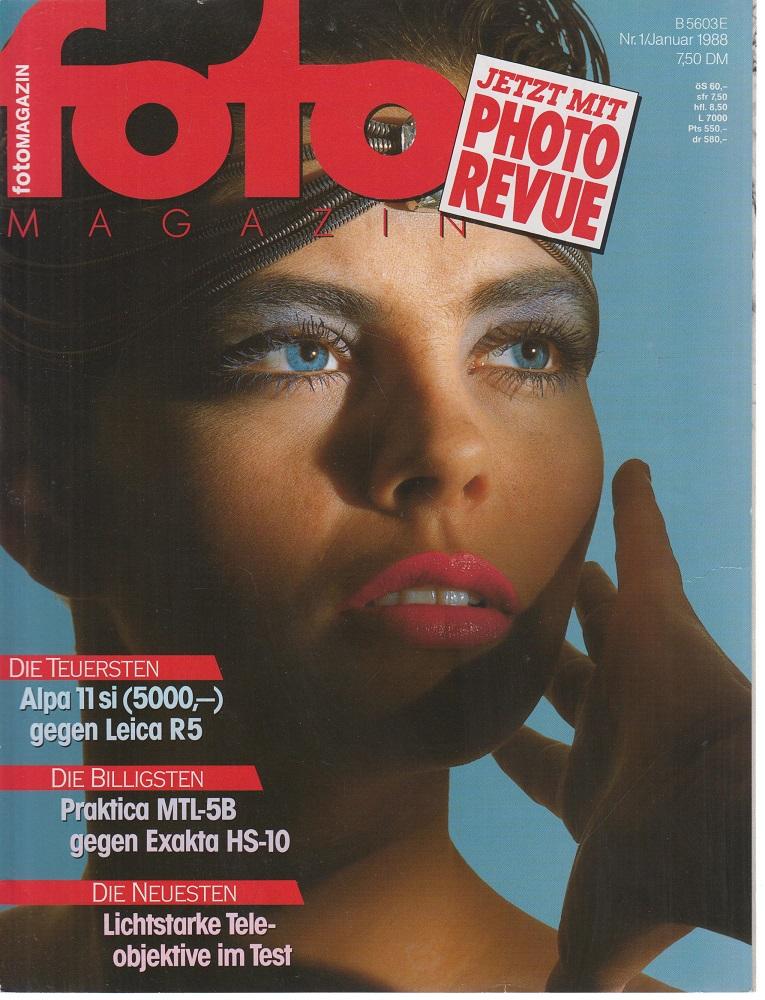 foto Magazin. Nr. 1 / Januar 1988. Die Teuersten, die Billigsten, die Neusten.