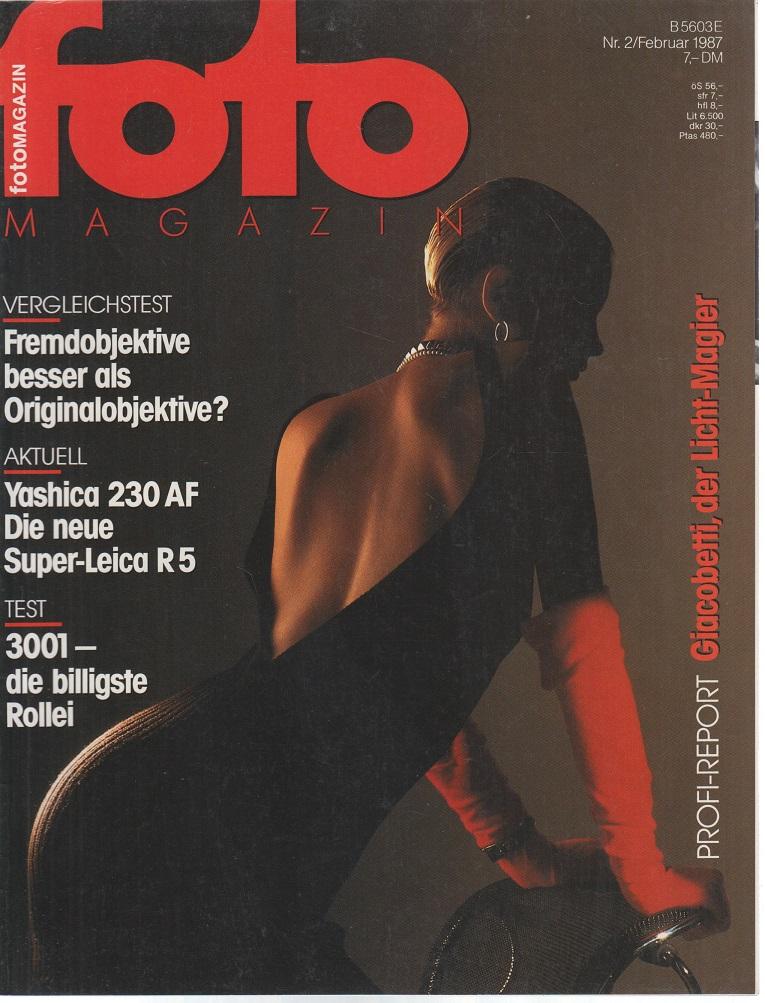 foto Magazin. Nr. 2 / Februar 1987. Profi-Report. Giacobetti, der Licht-Magier.