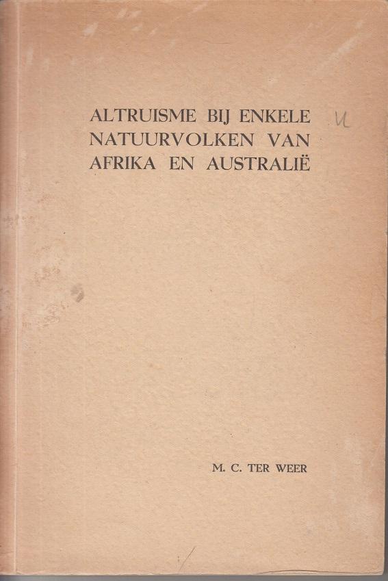 Altruisme bij enkele Natuurvolken van Afrika en Australie.