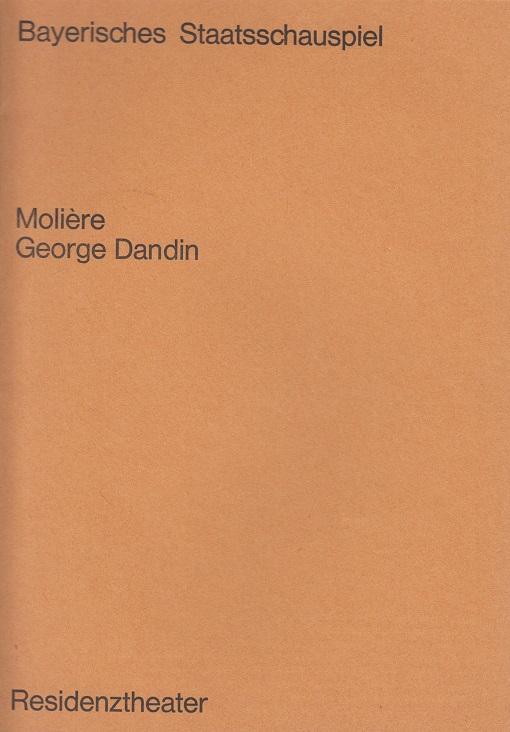 Moliére. George Dandin. Blätter des Bayerischen Staatsschauspiels.