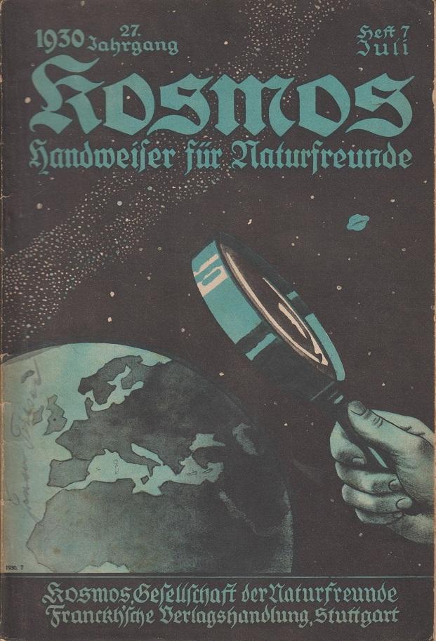 Kosmos, Bild unserer Welt Kosmos. Nr. 7/ Juli 1930.