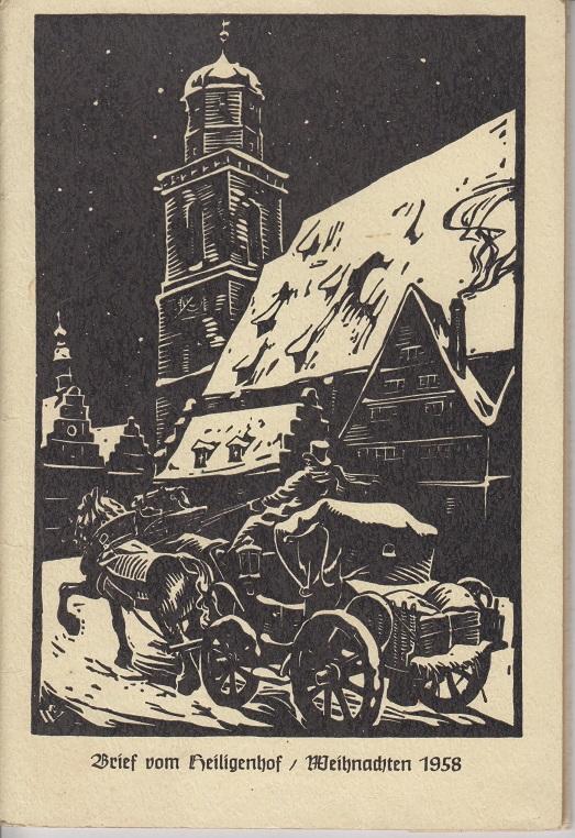 Brief vom Heiligenhof Weihnachten 1958