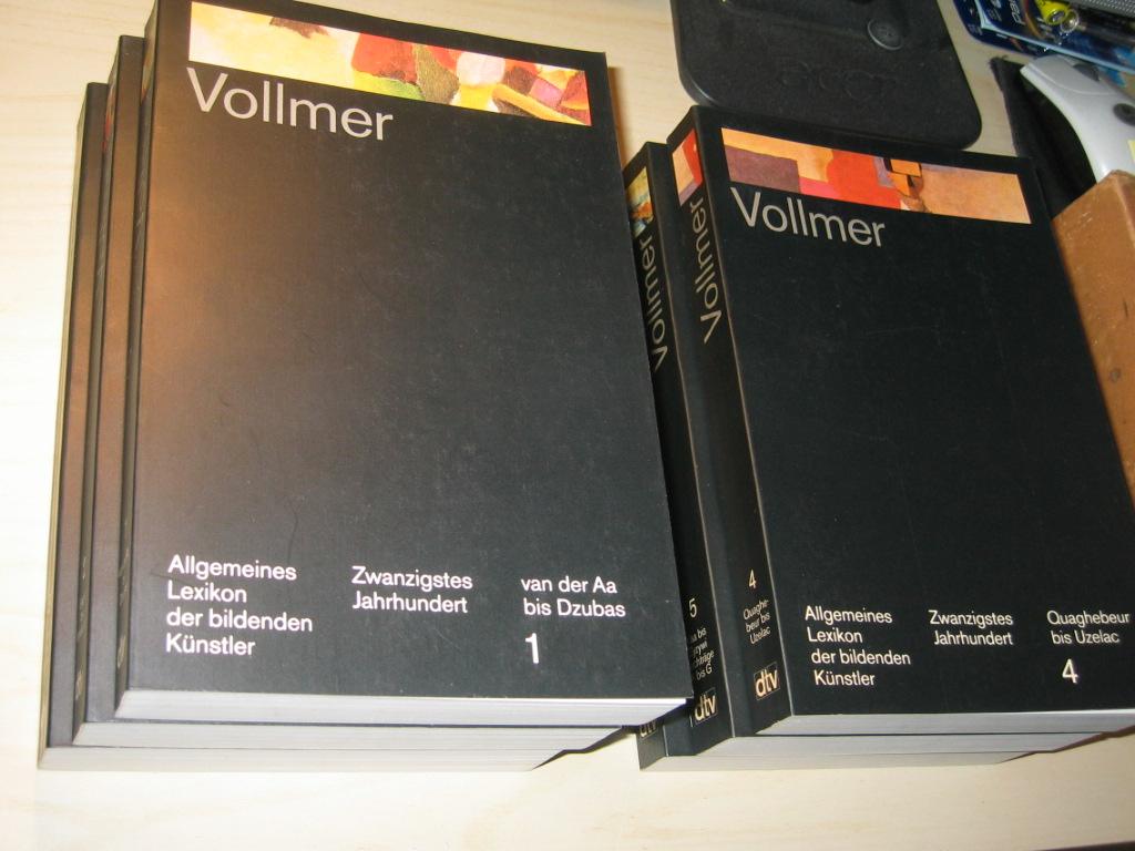 Allgemeines Lexikon der bildenden Künstler des 20. Jahrhundert. Band 1 - 6 (6 Bände kpl.)  Erste Auflage dieser Ausgabe - Vollmer, Hans (Hg.)