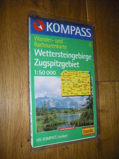 Kompass Wander- und Radtourenkarte # 5: Wettersteingebirge/Zugspitzgebiet (1:50.000)