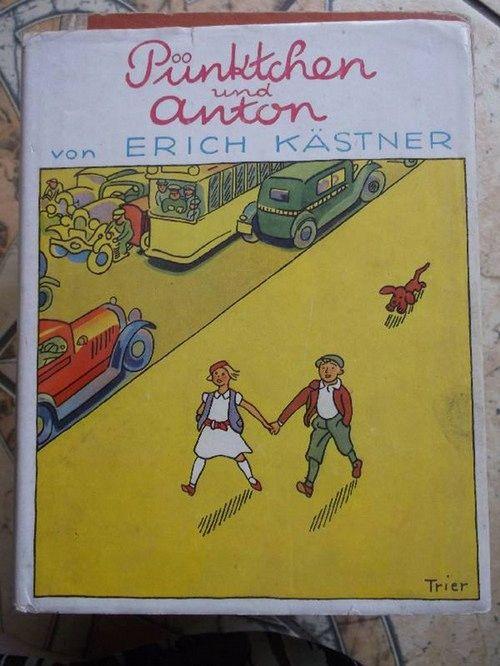 Pünktchen und Anton eine Kinderfreundschaft hält auch bei Problemen stand einen Kriminalgeschichte für Kinder von Erich Kästner mit Illustrationen von Walter trier  121.auflage - Kästner, Erich