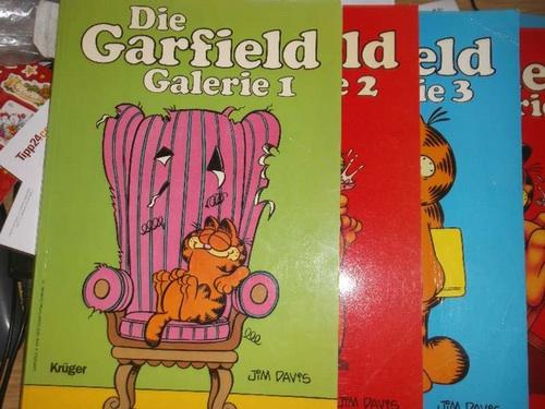 Die Garfield-Galerie Teil 1-3 Garfield der Bonvivant der Katzenwelt, ist wieder da, umfangreich und ganz in bunt. ein comic Hit mit Fell und Fängen, frech, fett faul und filosofisch von Jim Davis - Jim Davis