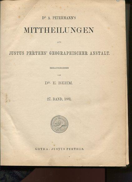 Mittheilungen aus Justus Perthes
