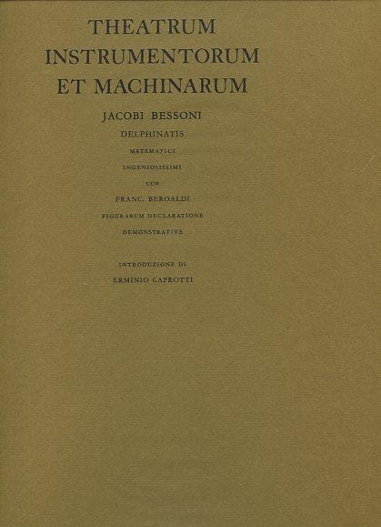 Theatrum instrumentorum et machinarum. Erstauflage, EA