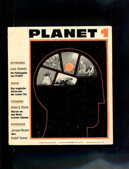 Planet Magazin 1 - 8. Die Zeitschrift für Zeitgenossen der Zukunft. Die europäische Zeitschrift in Buchform. Erstauflage, EA