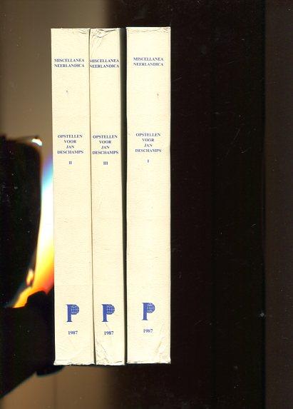 Opstellen Voor Dr. Jan DesChamps Ter Gelegenheid Van Zijn Zeventigste Verjaardag - Bio-bibliografie, Handschriftenkunde, Miniatuurkunst - 3 Volumes. Onder Redactie van Elly Cockx-Indestege en Frans Hendrickx - Volume I, II, III - Miscellanea Neerlandica. first Edition - DesChamps, Jan