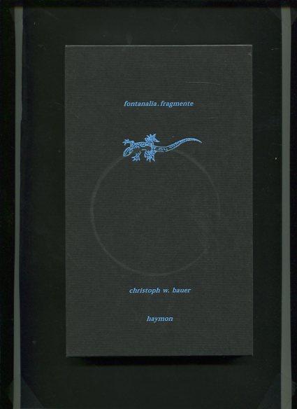 Fontanalia - Fragmente. Erstauflage, EA