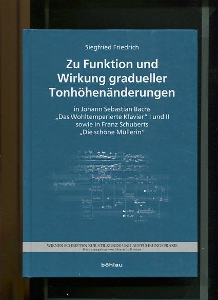 Friedrich, Siegfried: Zu Funktion und Wirkung gradueller Tonhöhenänderungen in Johann Sebastian Bachs