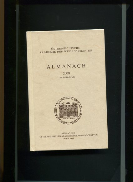 Almanach der Österreichischen Akademie der Wissenschaften 2008 / 158.Jahrgang, mit DVD. Erstauflage, EA