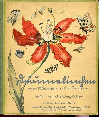 Däumelinchen - ein Märchen. Bilder von Else Wenz-Vietor - Nürnberger Bilderbücher Nr. 74. Erstauflage, EA
