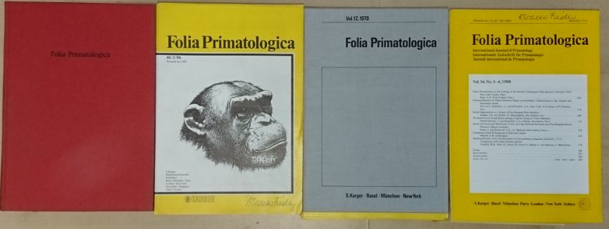 Folia primatologica international journal of primatology,  Internationale Zeitschrift für Primatologie, Journal international de Primatologie Jahrgang 1963 - 1985. Erstauflage, EA