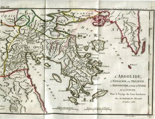 Voyage du Jeune Anarcharsis en Grèce - Dans le Milieu du Quatrime Siecle avant L´ere - Tome III. - Troisieme. Erstauflage, EA