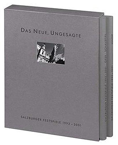 Ohne Autorenangabe: Salzburger Festspiele 1992 - 2001, 2 Bände. Band 1 Oper, Schauspiel, Dokumentation - Schauspiel, Band 2  Konzert, Zeitfluss, Dokumentation. Erstauflage, EA