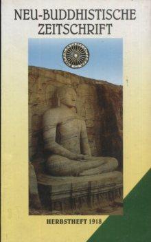 Neu-Buddhistische Zeitschrift, Herbstheft 1918. Neue Auflage