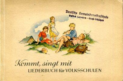 Strube, Adolf (Hrsg.): Kommt, singt mit - Liederbuch für Volksschulen. Mit farbigen Bildern von Wilhelm M. Busch. Erstauflage, EA,