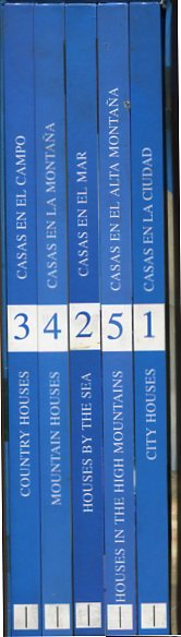 Houses of the World - 5 Volume Set. Atrium Libraries for Professionals. first Edition