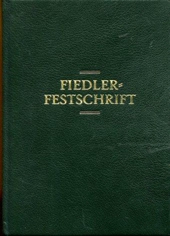 Fiedler-Festschrift - Walter Fiedler zur Vollendung des 60. Lebensjahres. Zool. Garten N. F., Jena Bd. 52 (1982) 3/4 (Seiten 129-392; Zool. Garten N. F., Jena Bd. 53 (1983) 1 (Seiten 1-168). (= gesamt 37 Brosch.). Erstauflage, EA