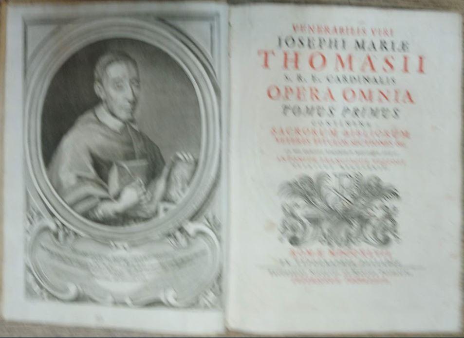 Venerabilis viri Josephi Mariae Thomas II. Erstauflage dieser Ausgabe