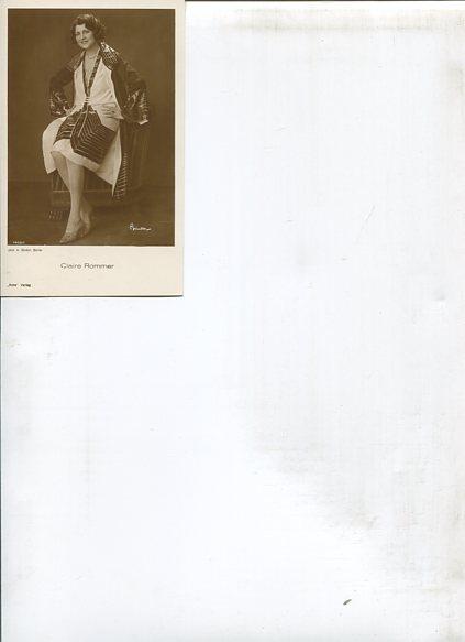 Ohne Autorenangabe: Claire Rommer - 7 Ross Portrait-Postkarten. Erstauflage, EA