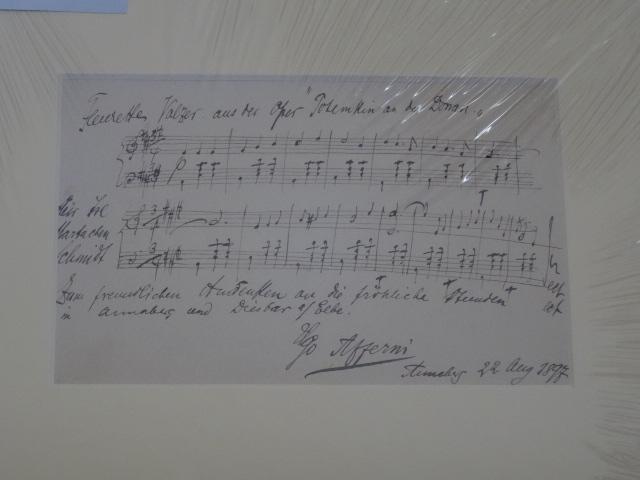 Original Noten von Ugo Afferni mit Widmung - signiert. Opertette, Ugo Afferni geb. Florenz 1. Jan. 1871 | † Livorno 9. Okt. 1931; Dirigent, Pianist, Komponist. Erstauflage, EA